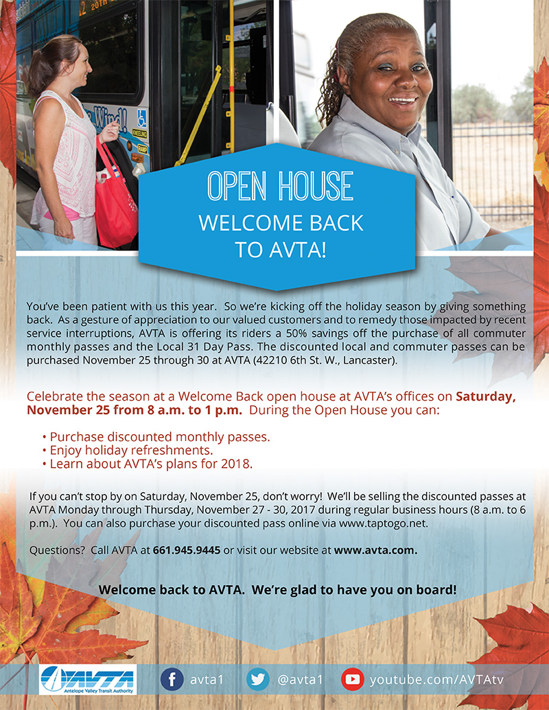 Open House - Welcome Back to AVTA!