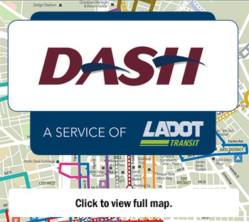 DASH logo and route map
