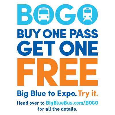 Buy One, Get One Free Promotion Celebrates Big Blue Bus as a